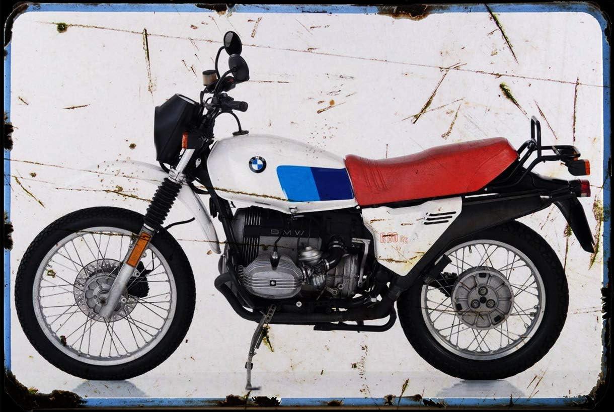 Red Rat BMW/_R80 Gs 82 A4 Metallschild Motorrad Vintage Aged