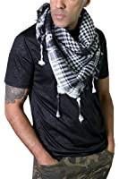 Anika Dali Army Desert Tactical Shemagh Scarf in Natural Cotton with Tassels (2 Designs)