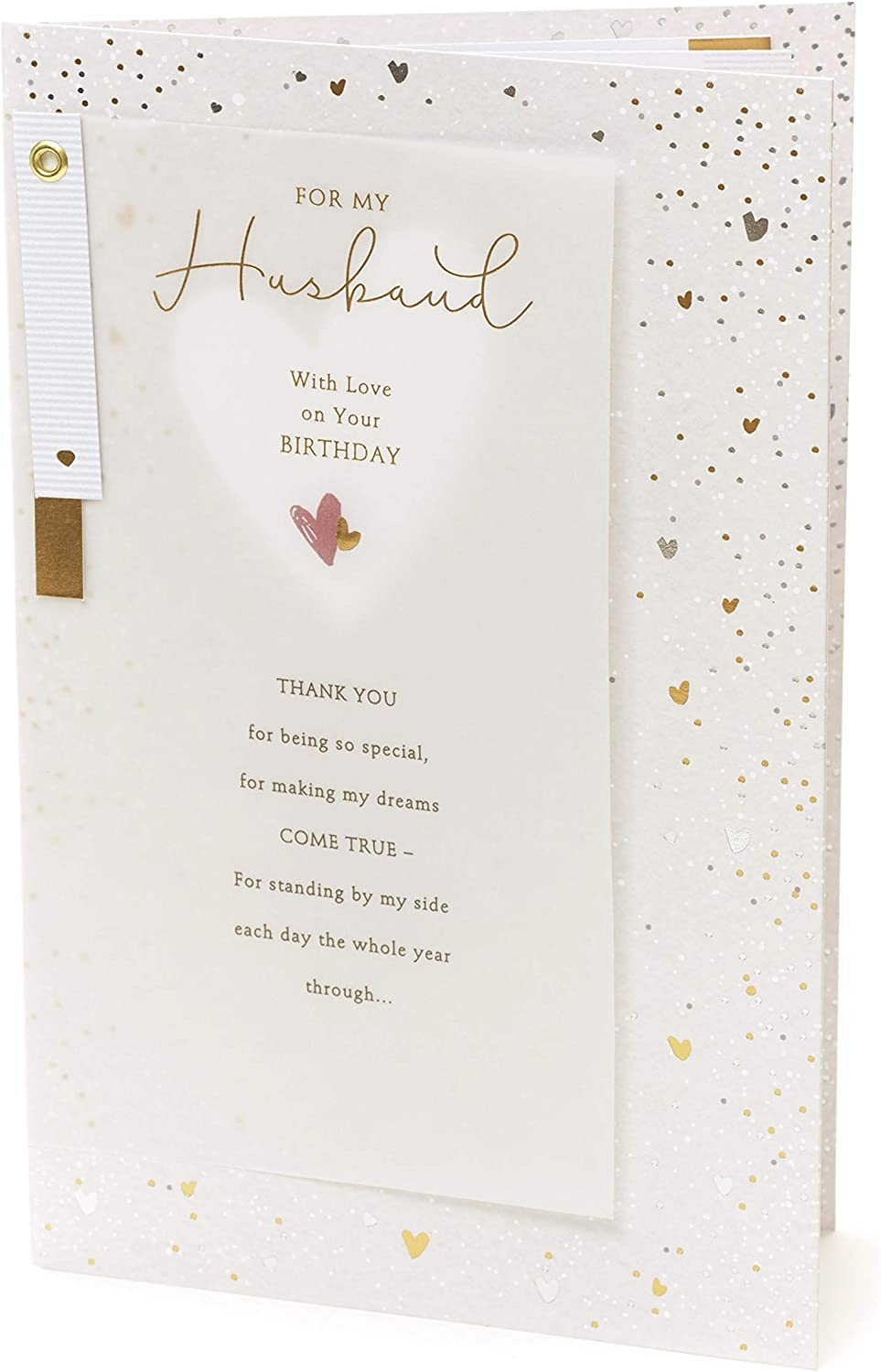 Very Nice Large Husband Birthday Card With Insert Lovely verse
