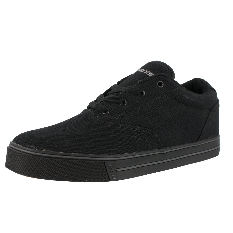 Heelys Launch-K Skate Shoe Black Canvas,6 M US Big Kid