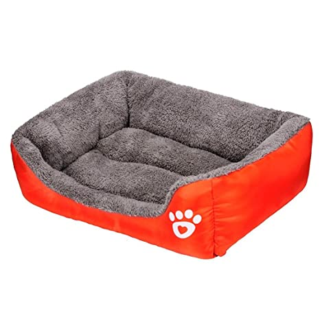 kingwo mascota perro gato cama cachorro cojín casa suave y cálida Caseta Perro Mat Manta Cama