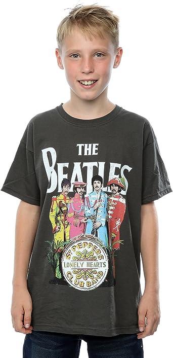 The Beatles Boys Sgt Pepper T-Shirt 7-8 Years Light Graphite