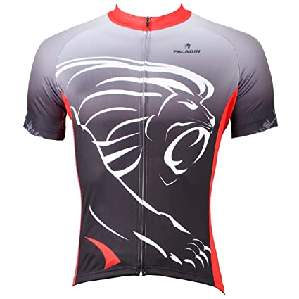 6da636524 Paladin Cycling Jersey for Men Short Sleeve Lion Pattern Bike Shirt Size L