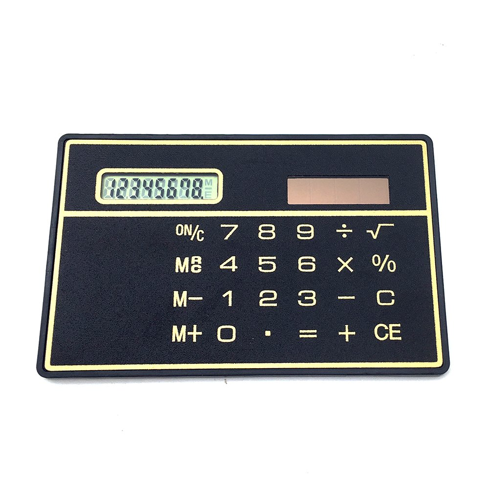 8 Digits Mini Solar Power Credit Card Size Pocket Calculator for School/Office/Travel