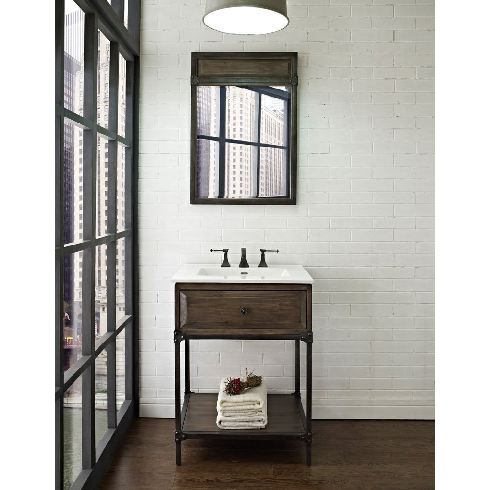 Fairmont Designs 24 Inch Toledo Open Shelf Vanity   Driftwood Gray    Bathroom Vanities   Amazon.com