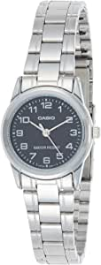 Casio Women's Black Dial Stainless Steel Analog Watch - LTP-V001D-1BUDF