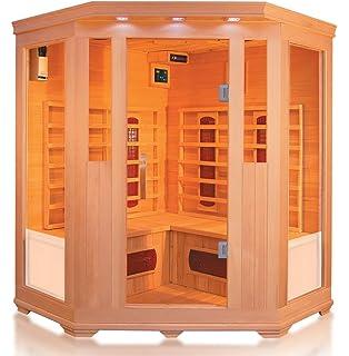 Cabina per sauna a infrarossi angolare a with sauna per casa prezzi - Prezzi sauna per casa ...