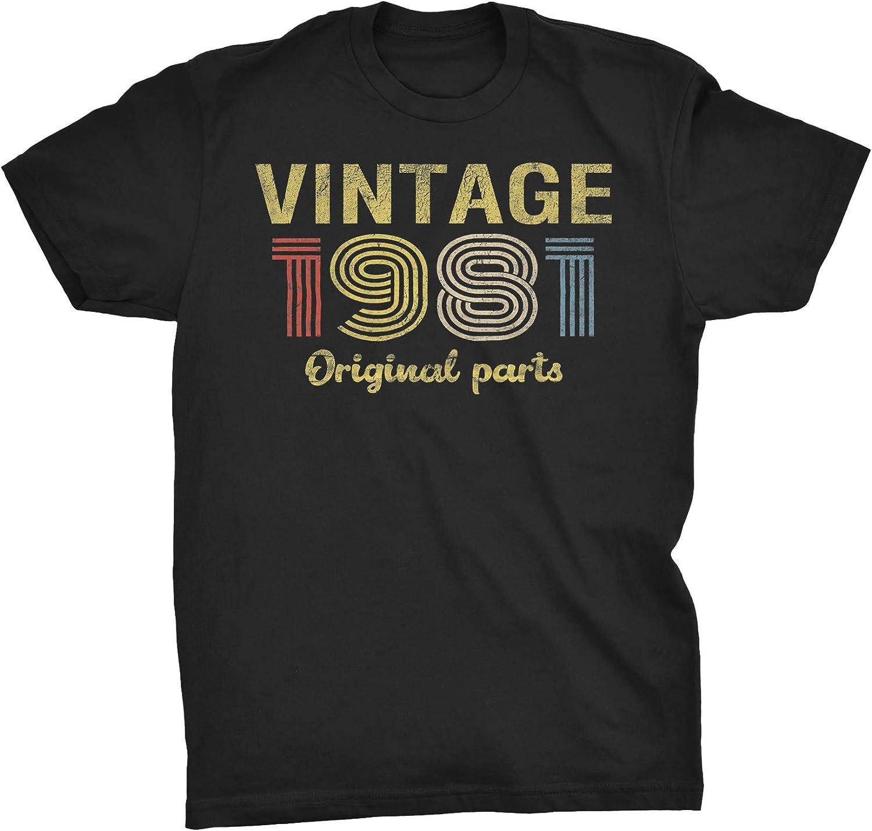 ShirtInvaders 40th Birthday Shirt for Men - Retro Birthday - 1981 Original Parts