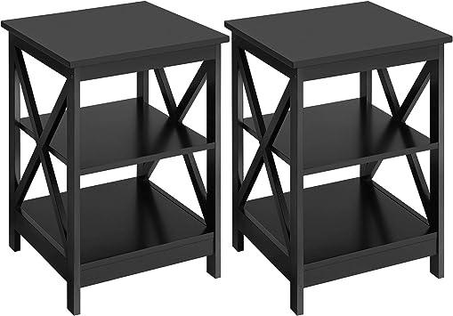 Mesa auxiliar Mesita de noche Mesas de 3 niveles Muebles Oficina Hogar Moderno