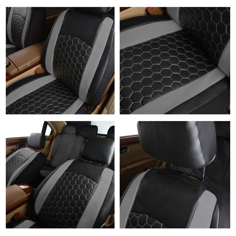 patr/ón de lichi Juego completo de fundas de asiento de coche deportivo de piel sint/ética con dise/ño de f/útbol bordado