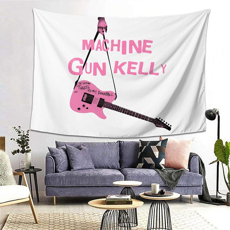 Mipruct Machine Gun Guitar Pink Kelly Tapestry Wall Hanging Art Home Decoration Bedroom Living Room Door Decor