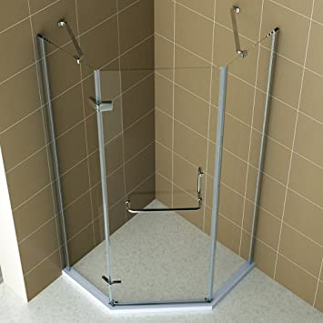 Seesuu Neo-Angle Frameless Shower Enclosure 5/16\