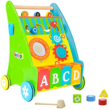 Amazon.com : boppi Wooden Baby Walker - Alphabet : Baby