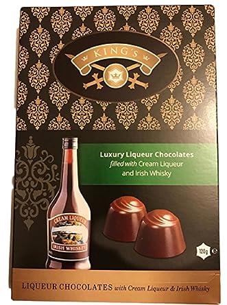 Chocolates de licor de lujo Kings llenos de licor de crema y whisky irlandés