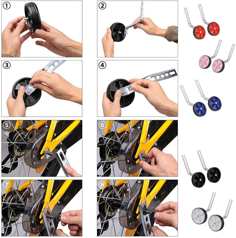 Tokenhigh Universal Training Wheels Stabilisers for Child Bicycle Bike Cycle 12-20 Inch-Kids Bike Stabilizers,Stabilisers for bikes,Wheel Stabiliser,Cycling Training Wheels Red