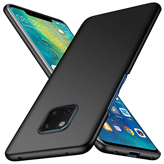 newest 5eeba 0cfaf Huawei Mate 20 Pro Case, Almiao [Ultra-Thin] Minimalist Slim Protective  Phone Case Back Cover for Huawei Mate 20 Pro (Smooth Black)