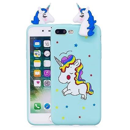 carcasa iphone 7 plus unicornio silicona