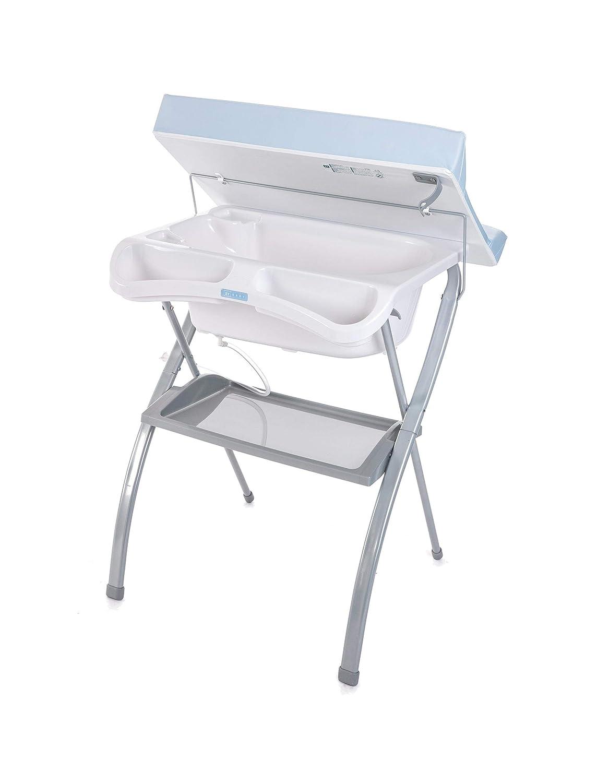 Hoch Badewanne Spalsh ZY Baby Blau Kompakt mit Wickelauflage Zippy Babybadewanne Anatomischem Sitz