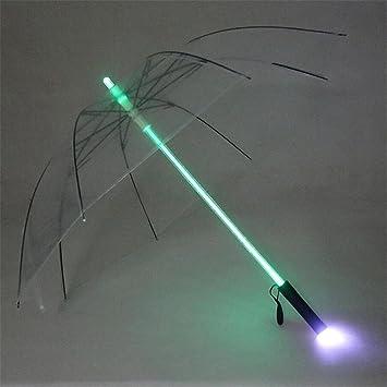 MTTLS paraguas Multi Color cambiando el paraguas del LED Paraguas impermeable del color sólido con 7