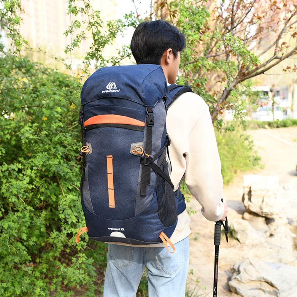 SKYSPER Mochilas de Senderismo 50L//65L con Cubierta Impermeable Mochila de Marcha Trekking Macutos para Viajes Excursiones Acampadas Trekking Camping Deporte al Aire Libre