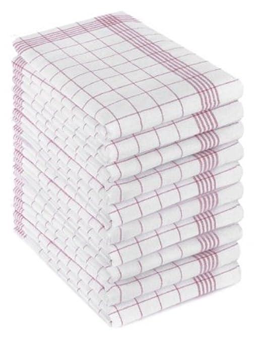 55 opinioni per 10 strofinacci, incotone lavabile a 95°.Misure: 50cm x 70cm, colore rosso