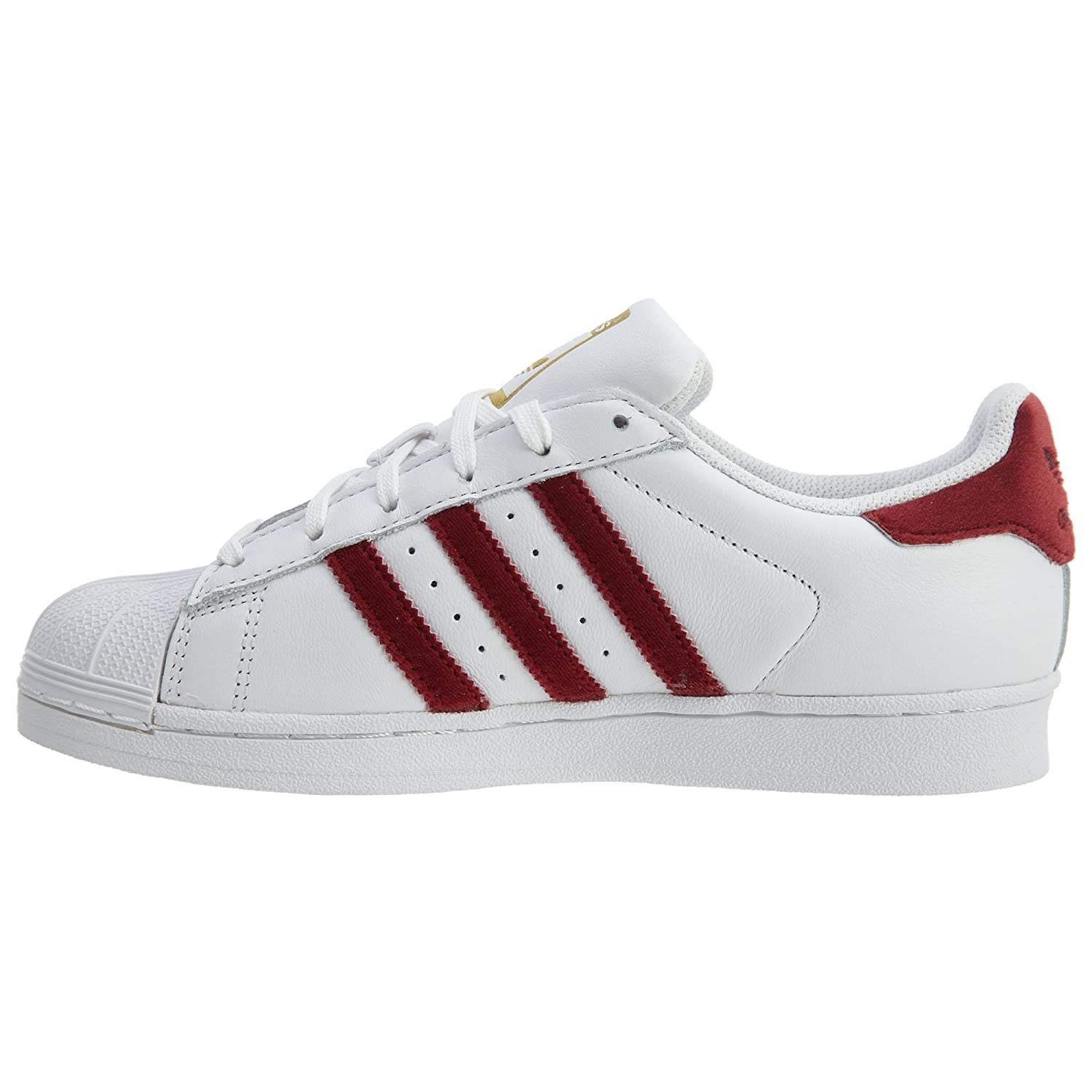 adidas Superstar W Womens Fashion-Sneakers AC7162 7 - Footwear White  Burgundy Footwear White  Amazon.co.uk  Shoes   Bags 30fbc2f5a6