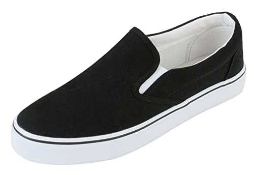 dca86987a37c2 MEWOOCUE Women's Casual Canvas Slip On Shoes Fashion Sneakers