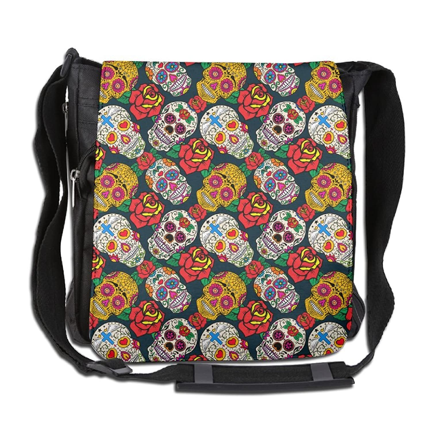 Skulls And Roses Fashion Outdoor Lightweight Backpack Single Shoulder Crossbody Bags For Men & Women