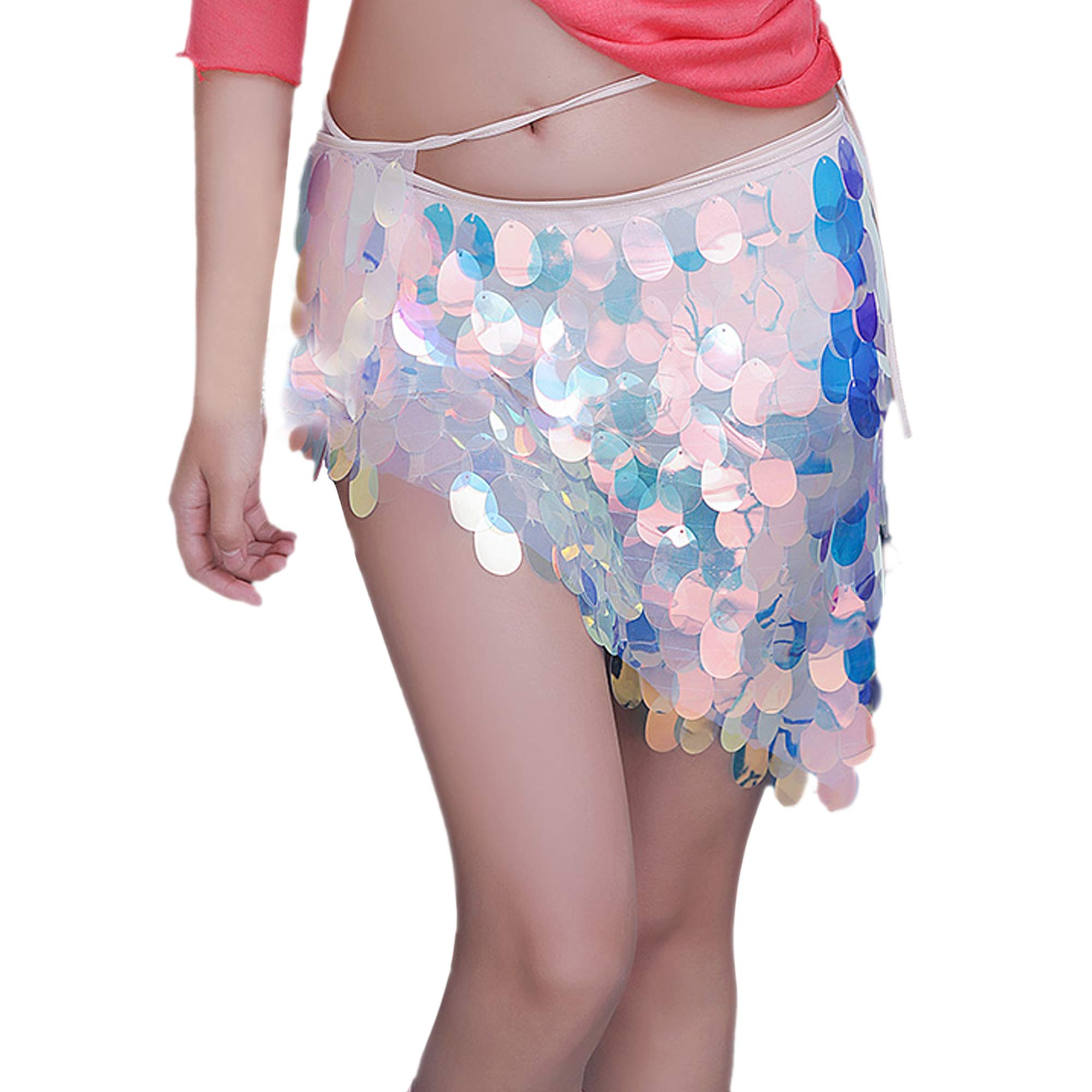 Mermaid Scales Hip Skirt Scarf for Belly Dance (Short T) by Leo Skye