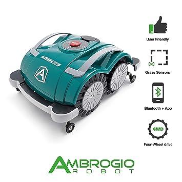 Robot cortacésped Ambrogio L60 Deluxe, Robot cortacésped de jardín Sin instalación hilo perímetro, Robot