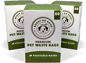 Biodegradable Poop Bags | Dog Waste Bags, Unscented, Vegetable-Based & Eco-Friendly, Premium Thickness & Leak Proof, Easy Detach & Open, Supports Rescues