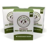 Biodegradable Poop Bags   Dog Waste Bags, Unscented, Vegetable-Based & Eco-Friendly, Premium Thickness & Leak Proof, Easy Detach & Open, Supports Rescues
