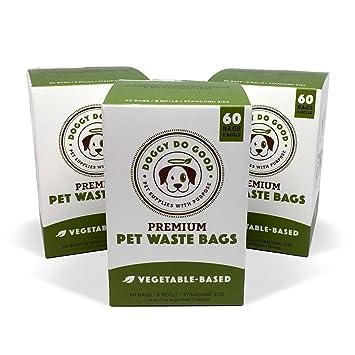 Amazon.com: Bolsas de caca biodegradables para perros, sin ...