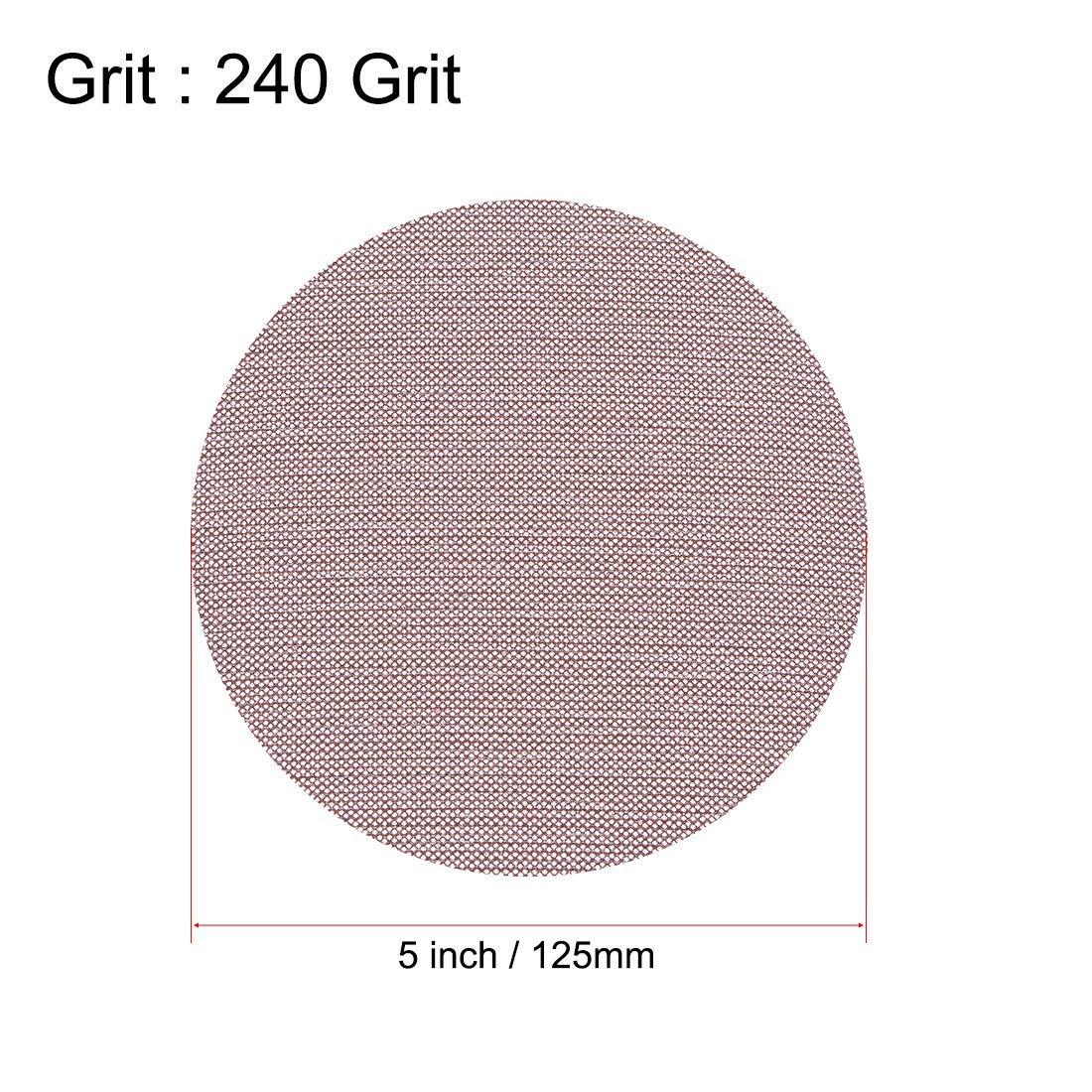 Mesh Sanding Discs 5 Inch 240 Grit Hook and Loop Grip Disc 3 pieces
