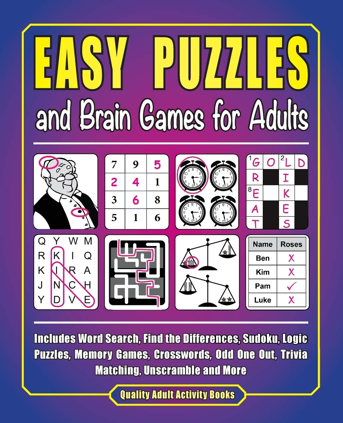 Easy puzzles for adults