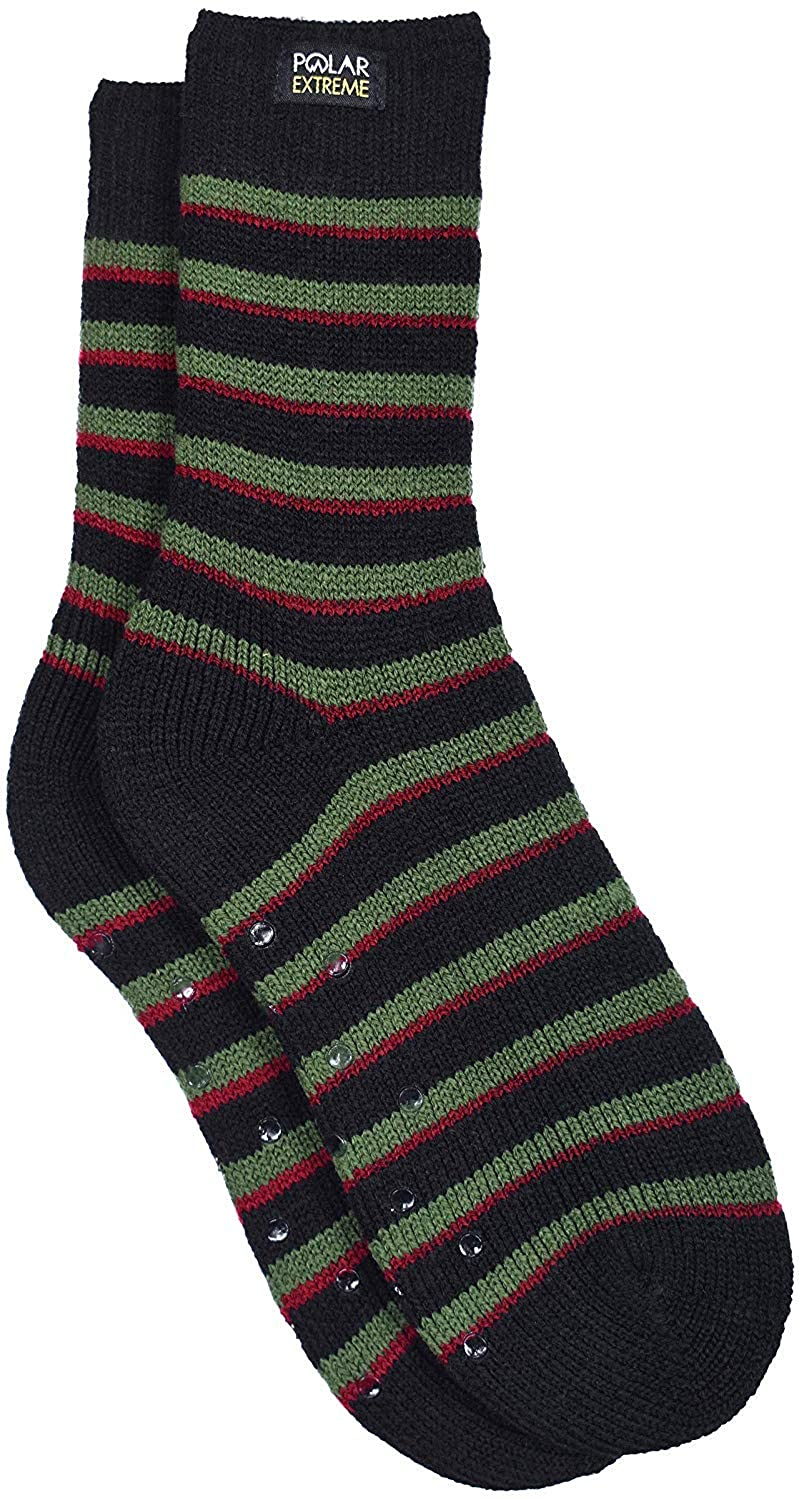 Boy's Insulated Thermal Crew Socks with Gripper Dots in 12 Styles & Colors PEH61