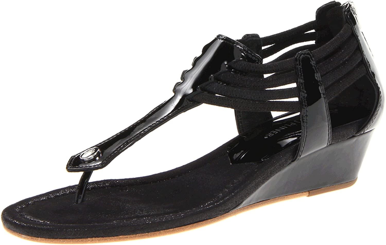 Donald J Pliner Women's Dyna Patent Wedge Sandal B009CEF4R4 8.5 B(M) US|Black
