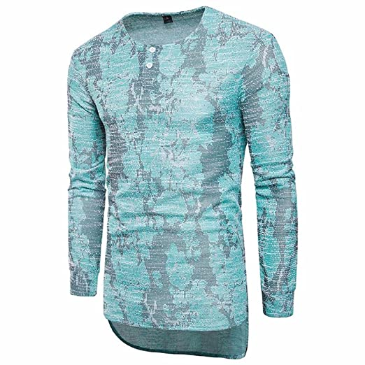 36b1cb28b Pervobs Mens Long Shirts, Big Promotion! Fashion Men Casual Long Sleeve T- Shirt