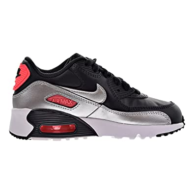 NIKE Air Max 90 Leather Little Kids (PS) Shoes Anthracite