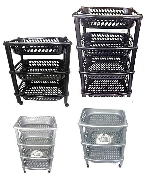 3 & 4 carrito de cocina de frutas verduras ruedas de plástico frutas, plástico,