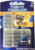 Gillette Fusion Proglide Power Razor Blade 14 Cartridges Refills