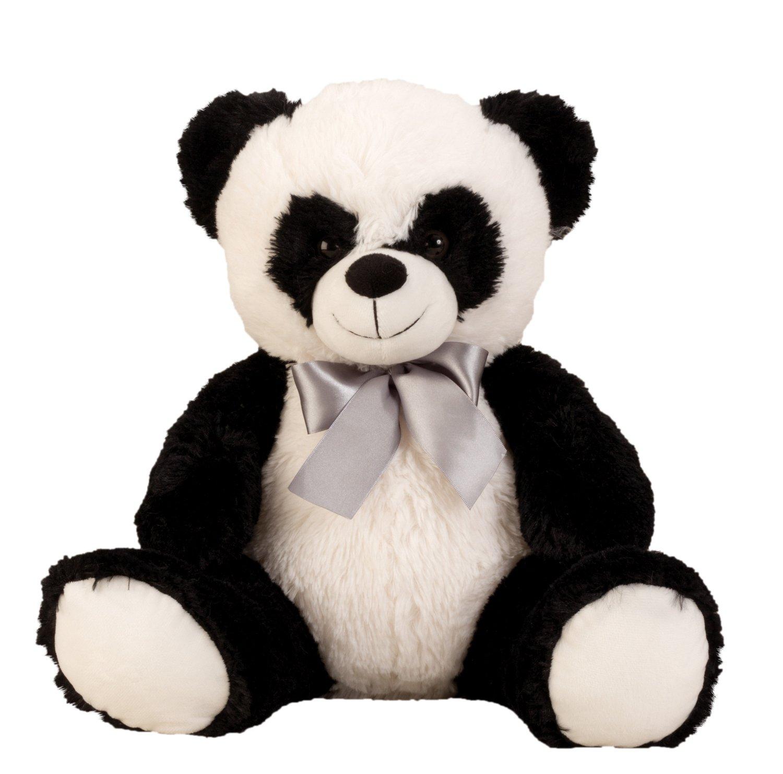 Lifestyle & More Coccolone di panda Orso morbido orso di peluche con l'arco per l'amore in bianco / nero altezza 50 cm