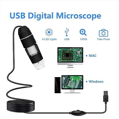 Amazon.com: Microscopio digital WiFi, 0.3 MP, Microscopio ...