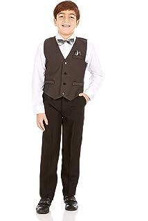 Amazon.com: Vittorino Traje de 4 piezas con chaleco, camisa ...