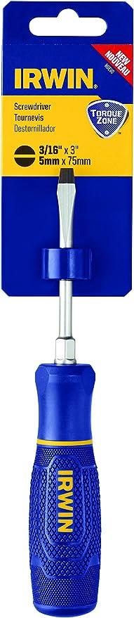 Keystone IRWIN TorqueZone Slotted Screwdriver 3//8 x 8