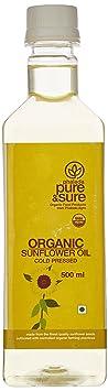 Pure & Sure Organic Sunflower Oil, 500ml