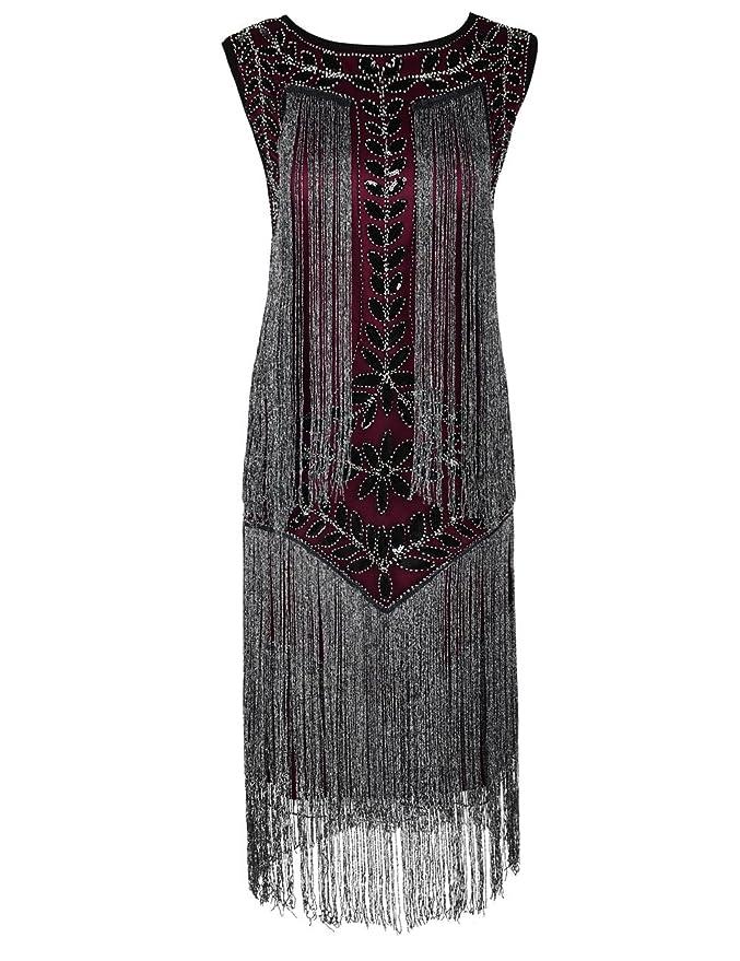 1920s Dresses UK | Flapper Dresses, Gatsby Dress PrettyGuide Womens 1920s Charleston Dress Sequin Full Fringed Deco Flapper Dress £38.99 AT vintagedancer.com