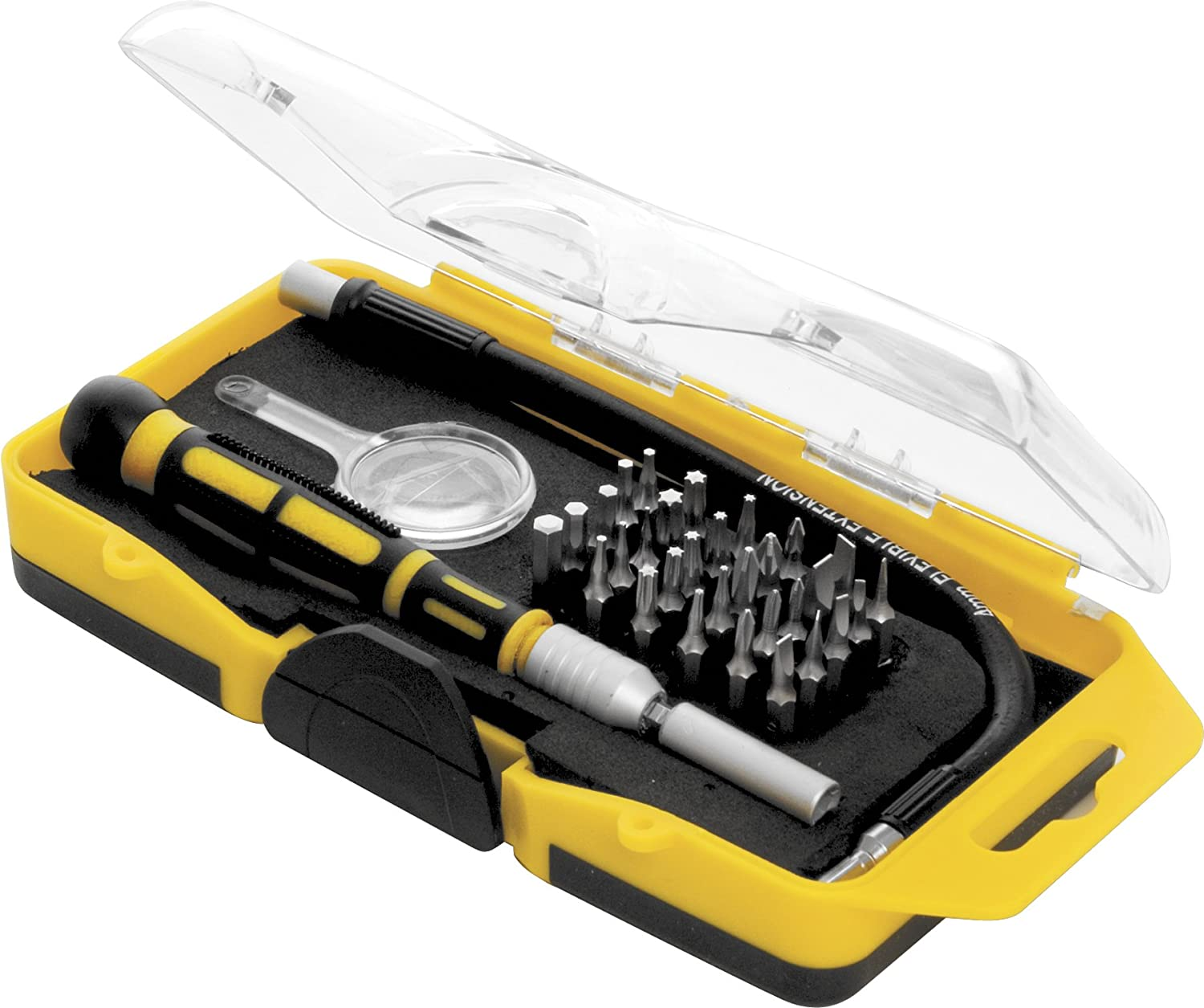 Performance Tool 20154 33-Piece Precision Driver Set With Clear View Storage Case