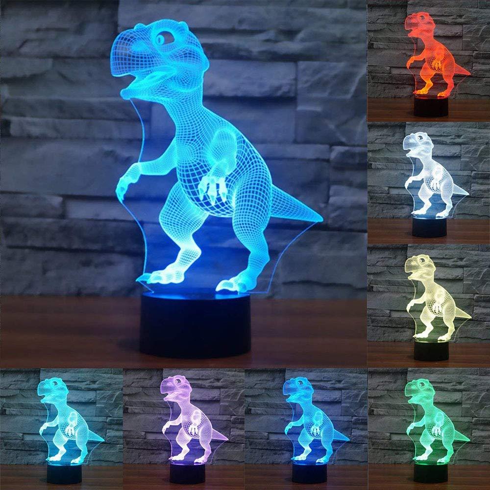 3D Illusion Night Light, KDJ 7 colores que cambian la lá mpara decorativa del escritorio de la tabla para el dormitorio/la habitació n de los niñ os/la oficina, los juguetes y los regalos para los niñ os