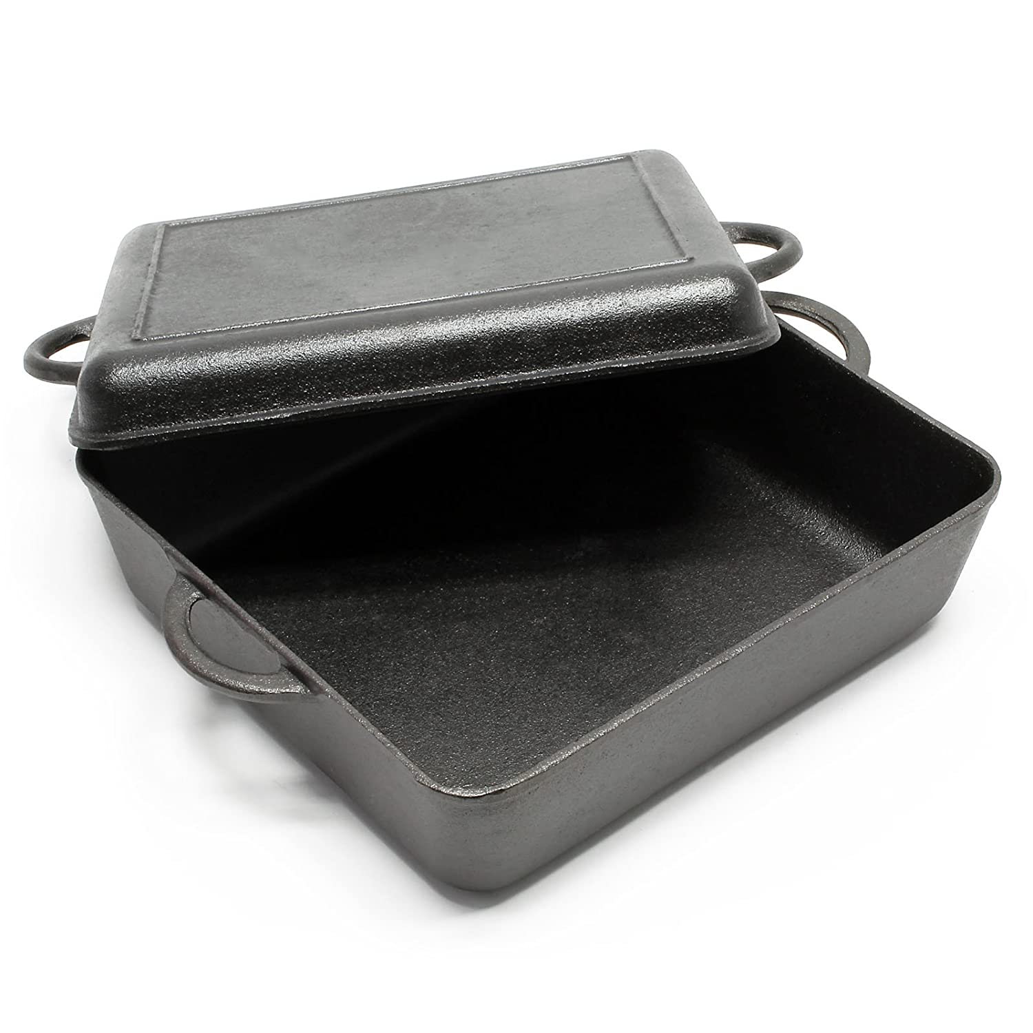 Dutch Oven Cast Iron roasting tray Kettle Cooking Equipment for Camping Outdoor WilTec